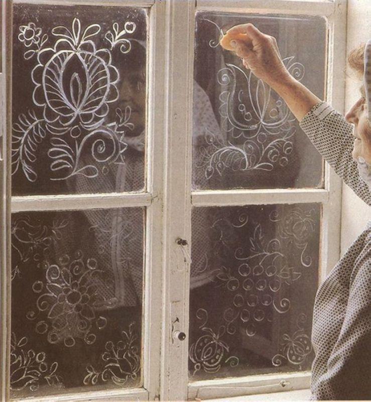 рисуем на стекле своими руками